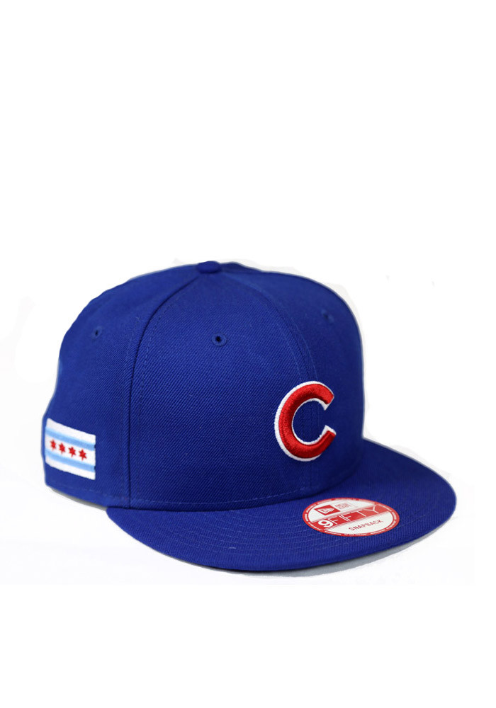 New Era Chicago Cubs Blue 9FIFTY Mens Snapback Hat - Image 1