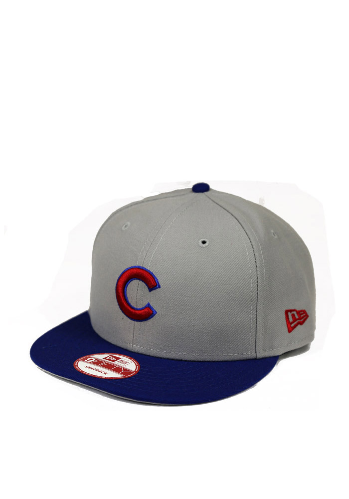 New Era Chicago Cubs Grey 9FIFTY Mens Snapback Hat - Image 1