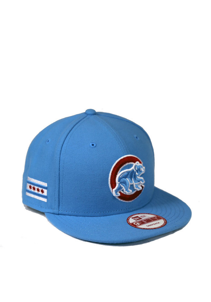 New Era Chicago Cubs Blue City 9FIFTY Mens Snapback Hat - Image 1