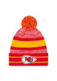New Era Kansas City Chiefs Red Cuff Pom Knit Hat