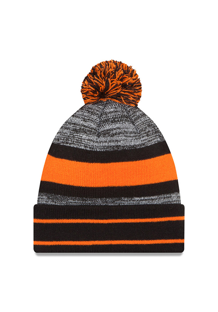 New Era Cincinnati Bengals Black Cuff Pom Mens Knit Hat - Image 2