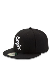 New Era Chicago White Sox Mens White AC Game 59FIFTY Fitted Hat ... 837aa836f158