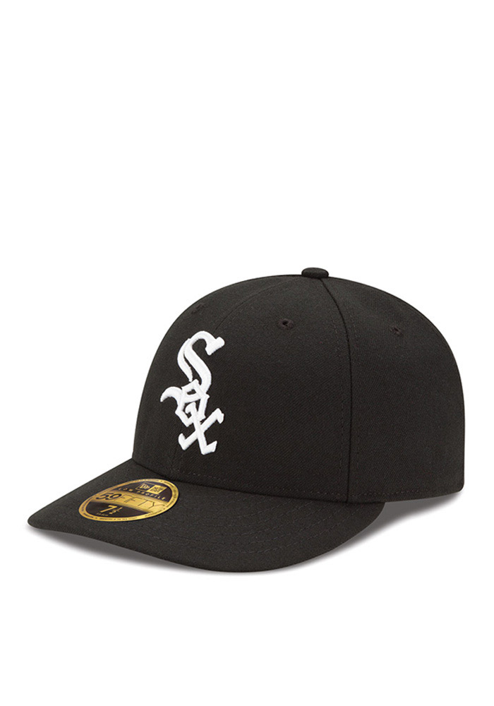 separation shoes f42e7 b2c8a ... store chicago white sox new era black low crown ac 59fifty fitted hat  823d5 7acda
