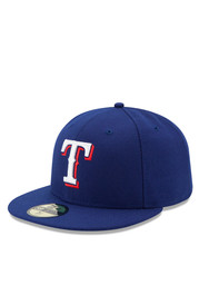 Texas New Era Mens Blue Game AC 59FIFTY Fitted Hat