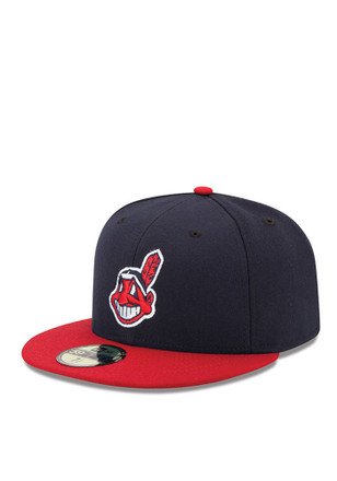 New Era Cleveland Indians Navy Blue AC 59FIFTY Youth Fitted Hat