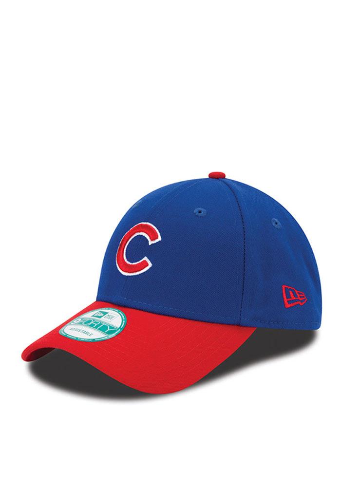 New Era Chicago Cubs Mens Blue The League 9FORTY Adjustable Hat - Image 1