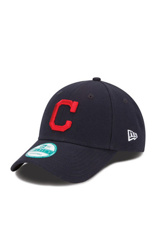 New Era Cleveland Indians Mens Navy Blue The League 9FORTY Adjustable Hat