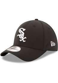 New Era Chicago White Sox Black Team Classic 39THIRTY Flex Hat