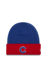 New Era Chicago Cubs Blue Basic Cuff Knit Hat