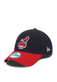 Cleveland Indians Navy Blue The League 9FORTY Youth Adjustable Hat