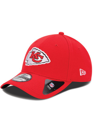 New Era Kansas City Chiefs Mens Red Team Classic 39THIRTY Flex Hat