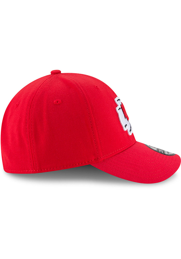 New Era Kansas City Chiefs Mens Red Team Classic 39THIRTY Flex Hat - Image 2