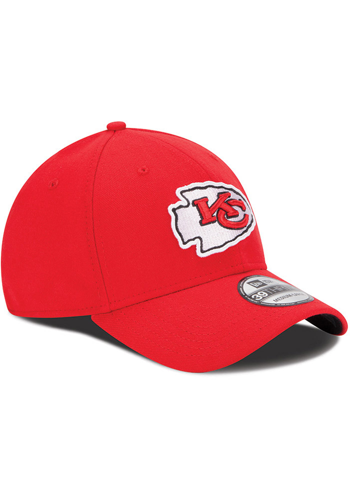New Era Kansas City Chiefs Mens Red Team Classic 39THIRTY Flex Hat - Image 3