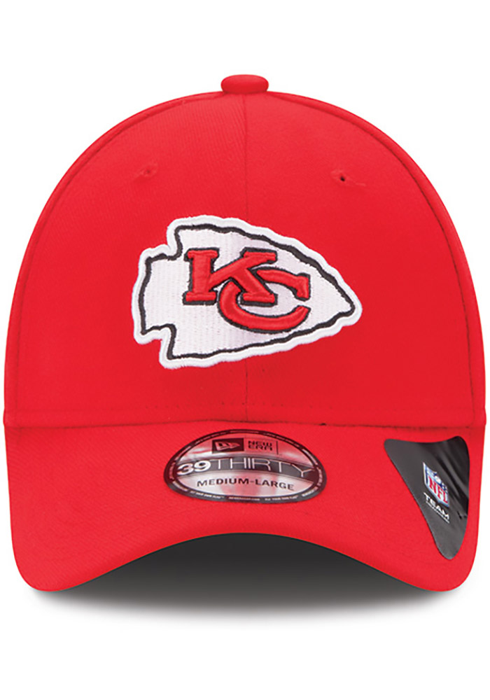 New Era Kansas City Chiefs Mens Red Team Classic 39THIRTY Flex Hat - Image 4