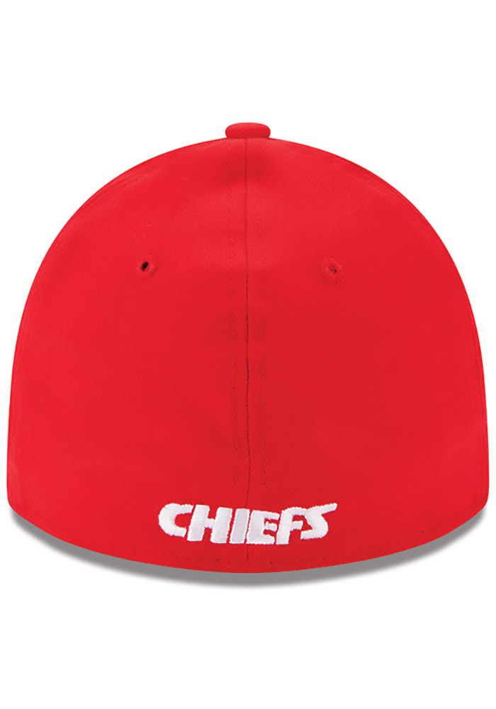 New Era Kansas City Chiefs Mens Red Team Classic 39THIRTY Flex Hat - Image 5