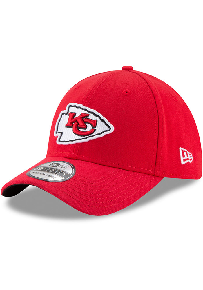 New Era Kansas City Chiefs Mens Red Team Classic 39THIRTY Flex Hat - Image 6