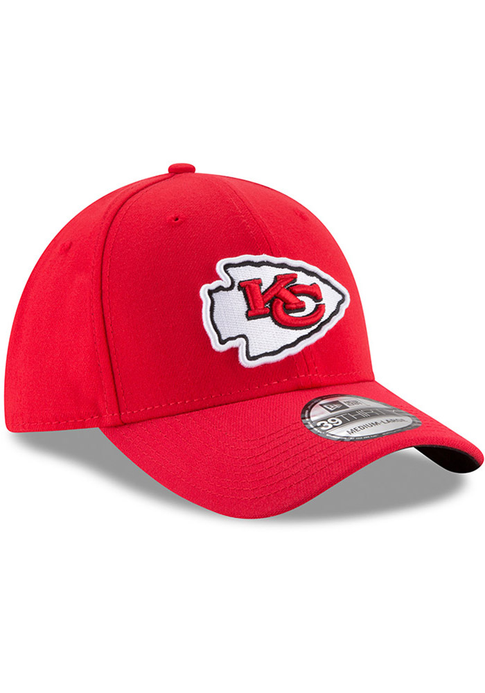 New Era Kansas City Chiefs Mens Red Team Classic 39THIRTY Flex Hat - Image 7