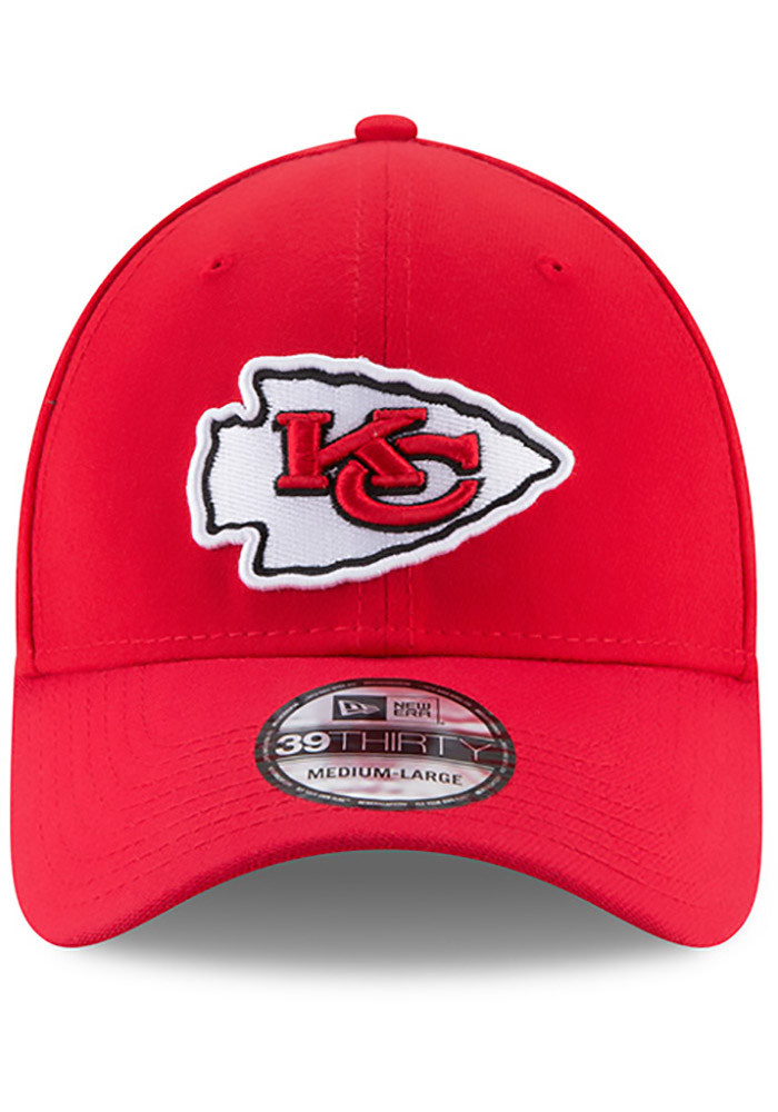 New Era Kansas City Chiefs Mens Red Team Classic 39THIRTY Flex Hat - Image 8