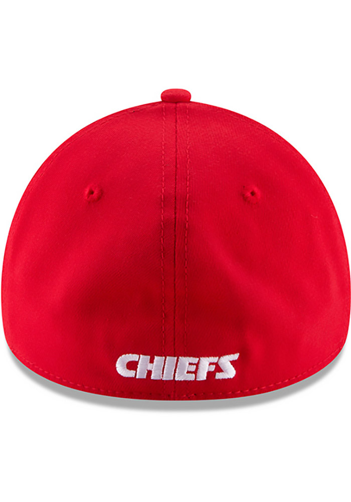 New Era Kansas City Chiefs Mens Red Team Classic 39THIRTY Flex Hat - Image 10