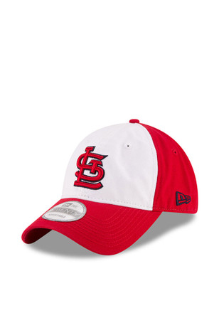 New Era St Louis Cardinals Mens Navy Blue Core Shore White Front 9TWENTY Adjustable Hat