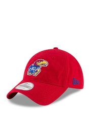 New Era Kansas Jayhawks Mens Red Core Shore 9TWENTY Adjustable Hat
