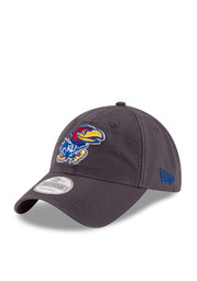 New Era Kansas Jayhawks Mens Grey Grayed Shore 9TWENTY Adjustable Hat