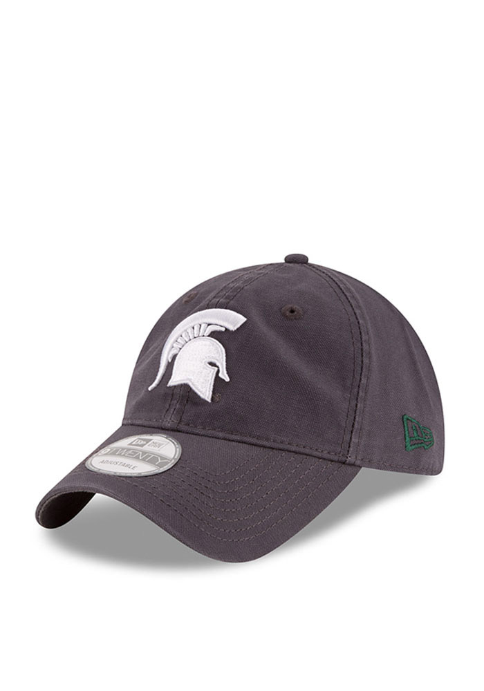 New Era Michigan State Spartans Mens Grey Grayed Shore 9TWENTY Adjustable Hat - Image 1