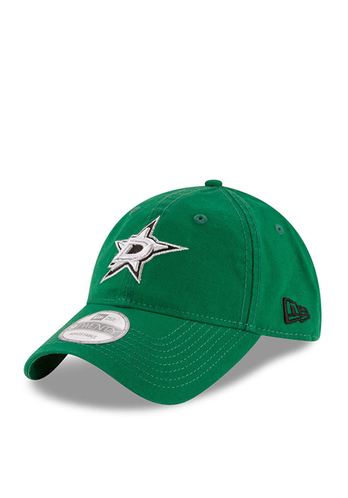 New Era Dallas Stars Mens Green Core Shore 9TWENTY Adjustable Hat - Image 1