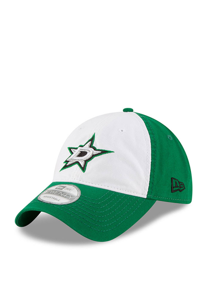 New Era Dallas Stars Core Shore White Front 9TWENTY Adjustable Hat - Black - Image 1