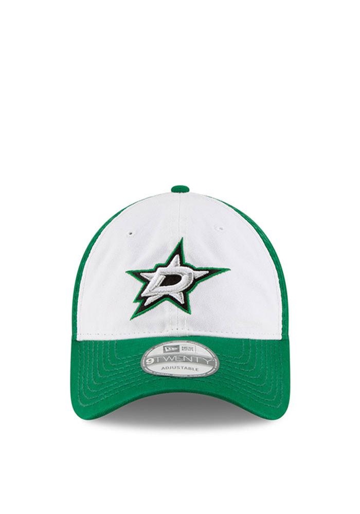 New Era Dallas Stars Core Shore White Front 9TWENTY Adjustable Hat - Black - Image 2