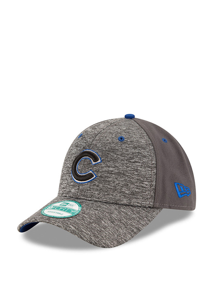 New Era Chicago Cubs Mens Grey The League Shadow 9FORTY Adjustable Hat - Image 1