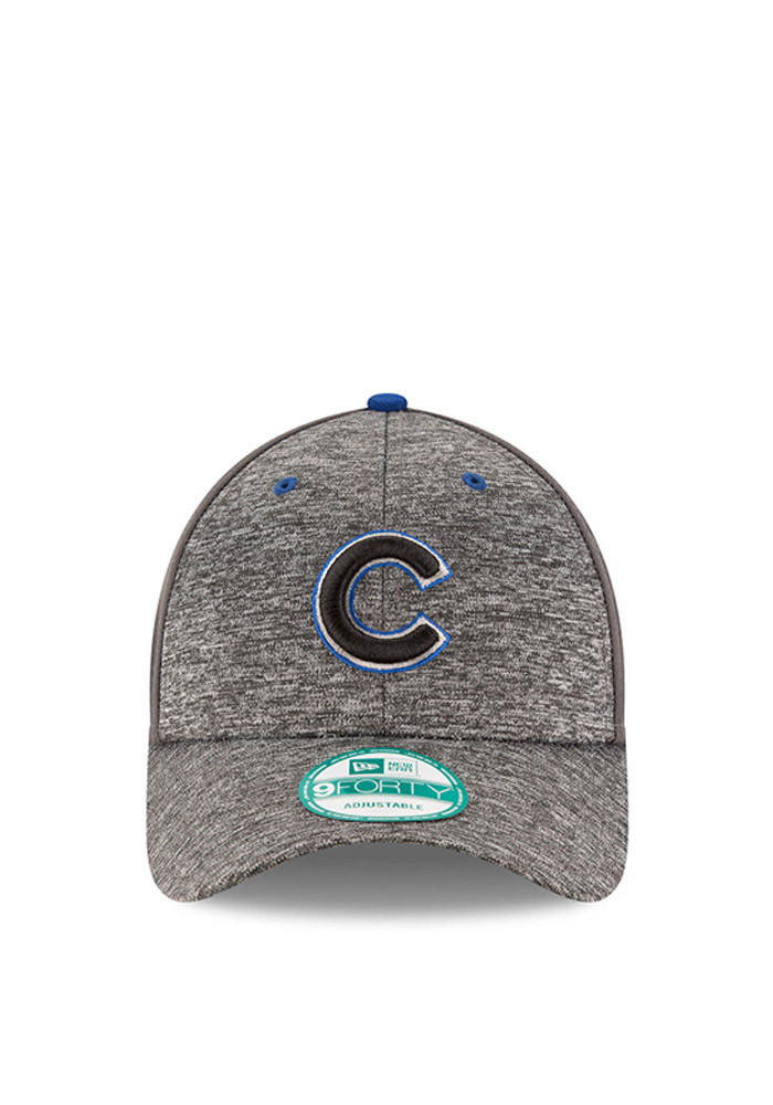 New Era Chicago Cubs Mens Grey The League Shadow 9FORTY Adjustable Hat - Image 2