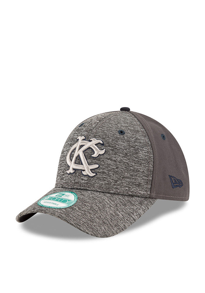 New Era Kansas City Athletics Mens Grey The League Shadow 9FORTY Adjustable Hat - Image 1