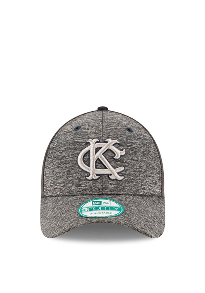 New Era Kansas City Athletics Mens Grey The League Shadow 9FORTY Adjustable Hat - Image 2