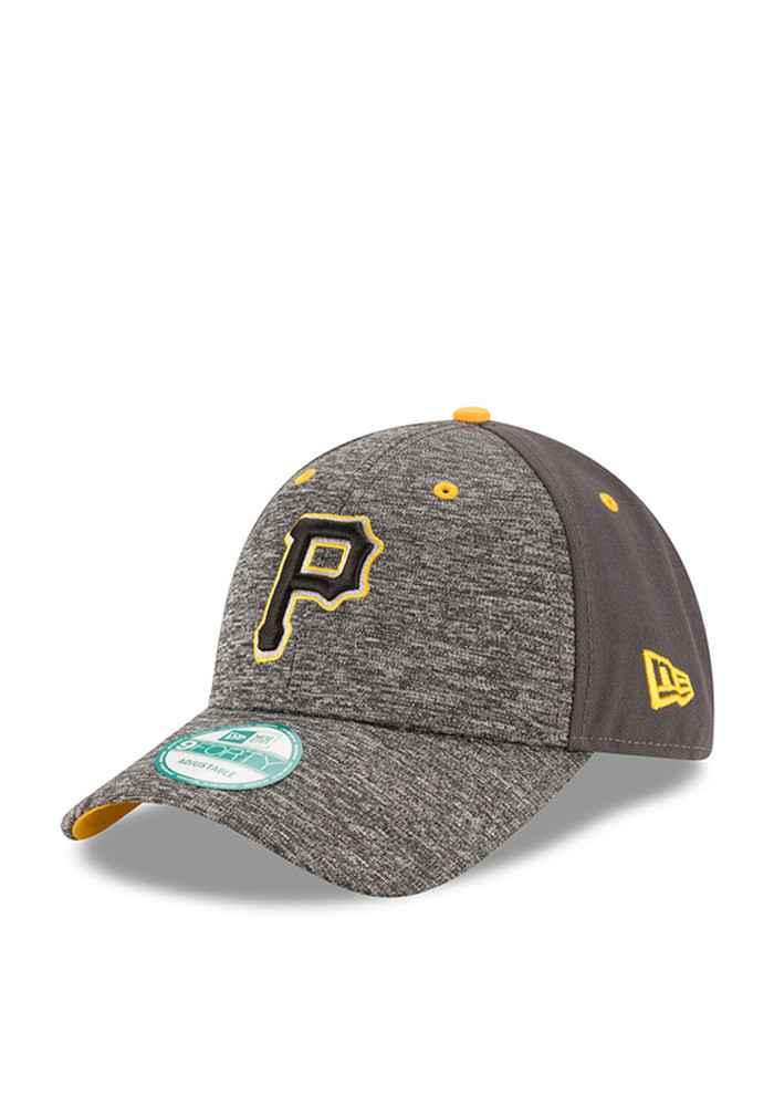 New Era Pittsburgh Pirates Mens Grey The League Shadow 9FORTY Adjustable Hat - Image 1