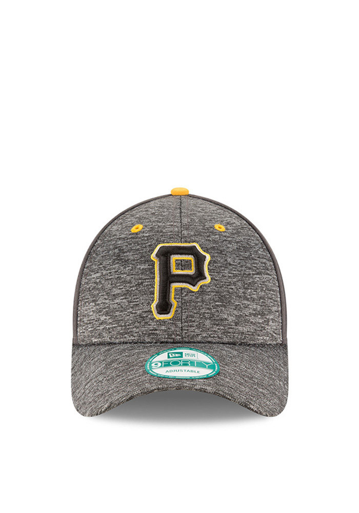 New Era Pittsburgh Pirates Mens Grey The League Shadow 9FORTY Adjustable Hat - Image 2