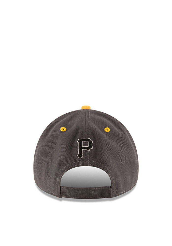 New Era Pittsburgh Pirates Mens Grey The League Shadow 9FORTY Adjustable Hat - Image 3