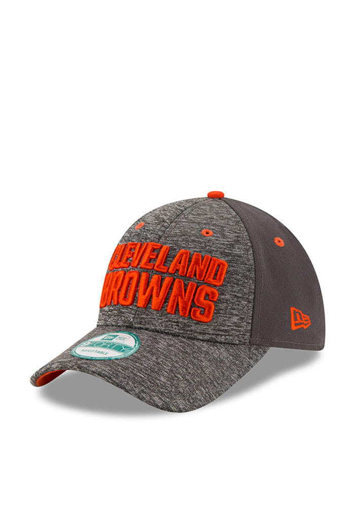 New Era Cleveland Browns Mens Grey The League Shadow 9FORTY Adjustable Hat - Image 1