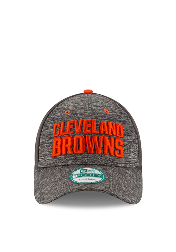 New Era Cleveland Browns Mens Grey The League Shadow 9FORTY Adjustable Hat - Image 2