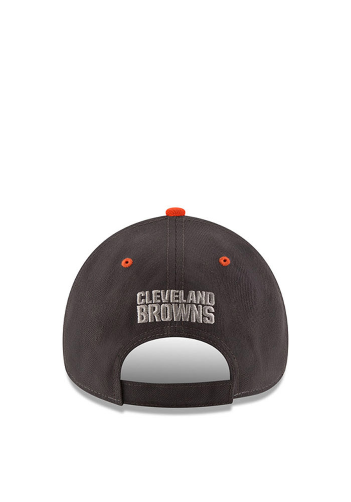 New Era Cleveland Browns Mens Grey The League Shadow 9FORTY Adjustable Hat - Image 3