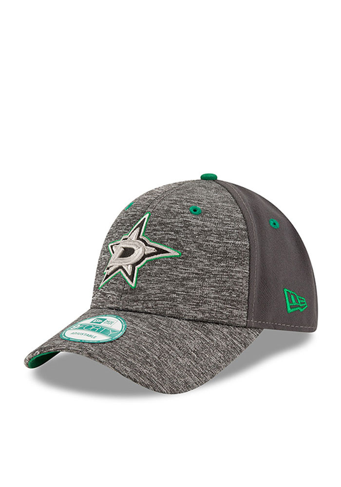 New Era Dallas Stars Mens Grey The League Shadow 9FORTY Adjustable Hat - Image 1