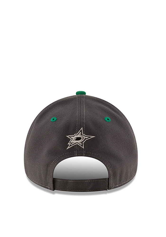 New Era Dallas Stars Mens Grey The League Shadow 9FORTY Adjustable Hat - Image 3