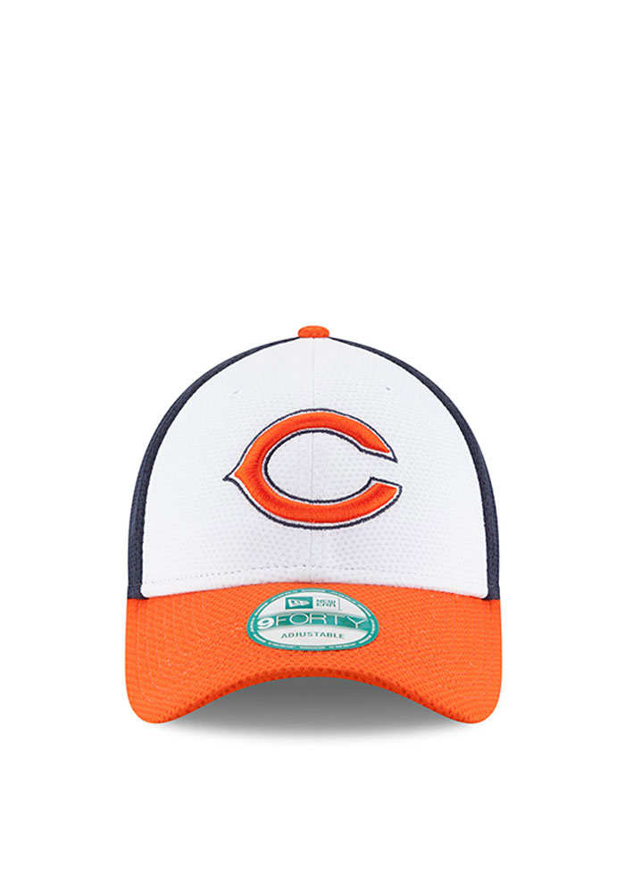 New Era Chicago Bears Mens Navy Blue Perf Block 2 9FORTY Adjustable Hat - Image 2