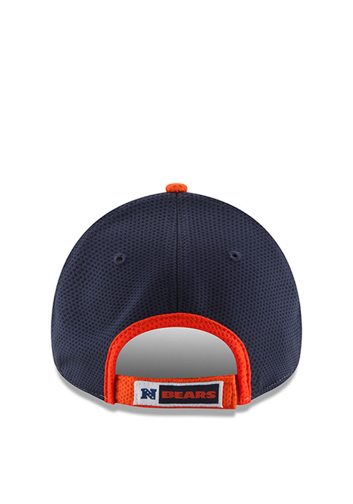 New Era Chicago Bears Mens Navy Blue Perf Block 2 9FORTY Adjustable Hat - Image 3