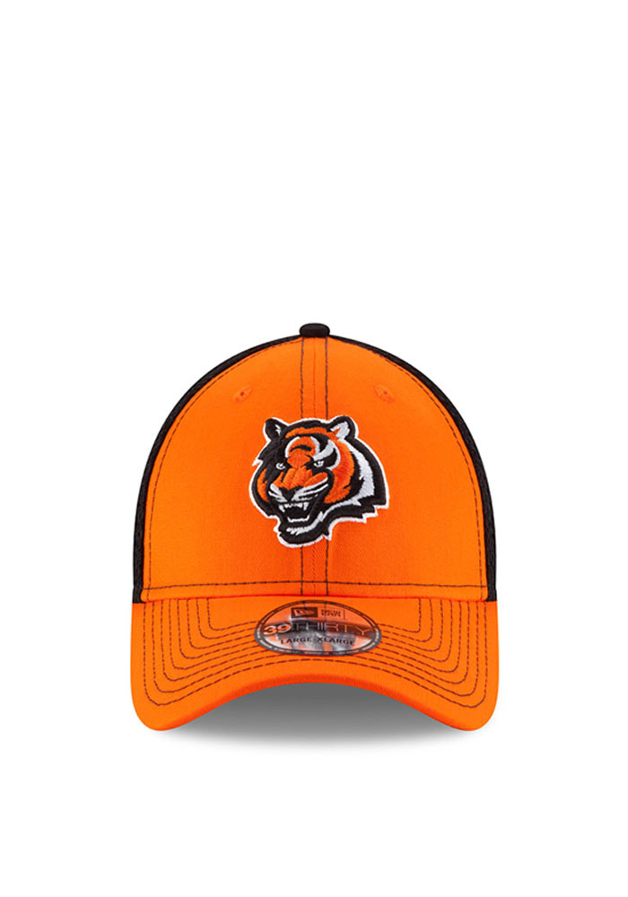 New Era Cincinnati Bengals Mens Orange Team Front Neo 39THIRTY Flex Hat - Image 2