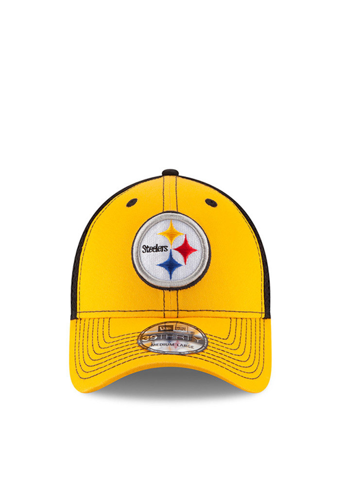 New Era Pittsburgh Steelers Mens Gold Team Front Neo 39THIRTY Flex Hat - Image 2