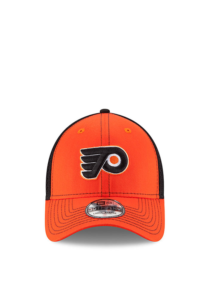 New Era Philadelphia Flyers Mens Orange Team Front Neo 39THIRTY Flex Hat - Image 2