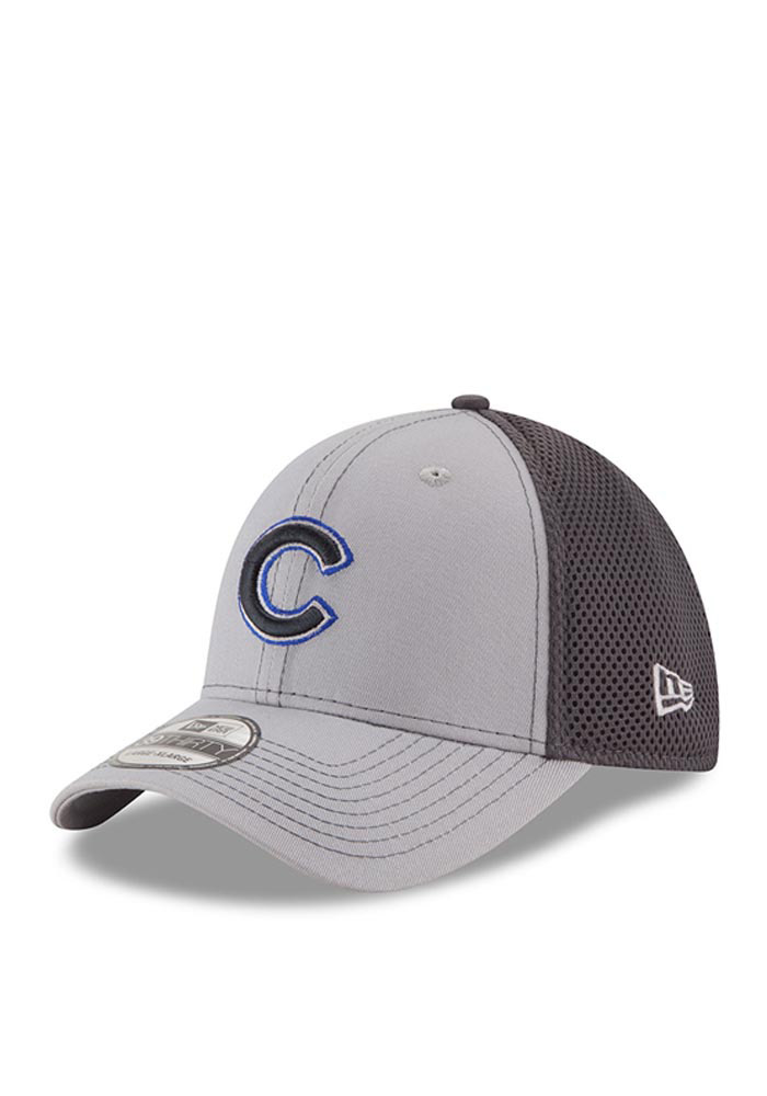 New Era Chicago Cubs Mens Grey Grayed Out Neo 2 39THIRTY Flex Hat - Image 1