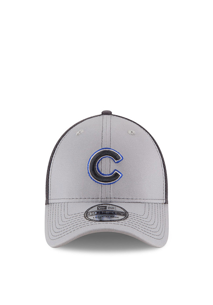 New Era Chicago Cubs Mens Grey Grayed Out Neo 2 39THIRTY Flex Hat - Image 2