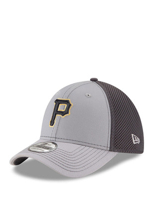New Era Pittsburgh Pirates Mens Grey Grayed Out Neo 2 39THIRTY Flex Hat